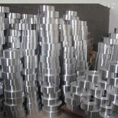 Aluminium strip for tagger lids